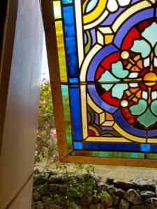 Opened Stained Glass Window