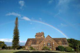 Rainbow over Makawao Union Church